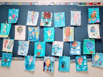 Flying High in Third Grade Art