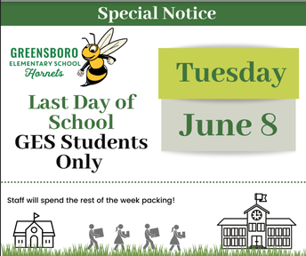 June 8th = GES Students Last Day of School!