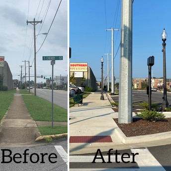 Recently Completed Streetscape Receives the Excellence Award in Planning By Alabama Main Street