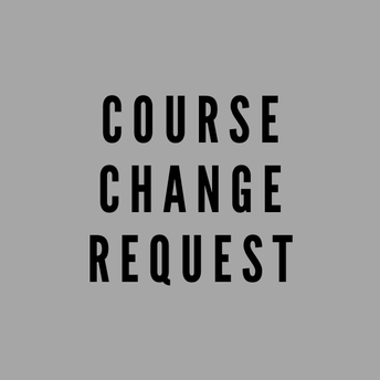 August Course Changes