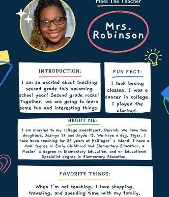 Mrs. Robinson, 2nd grade