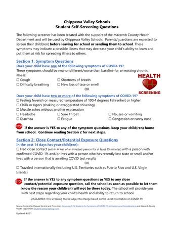 Symptom Screener & District Nurse