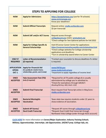 College Planning checklist
