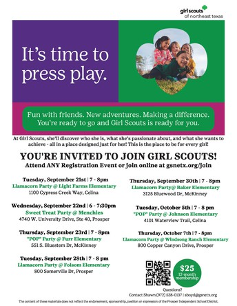 Join Girl Scouts in Prosper! - NEW