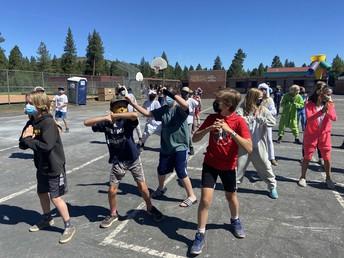 Fifth-grade fun Flash Mob!