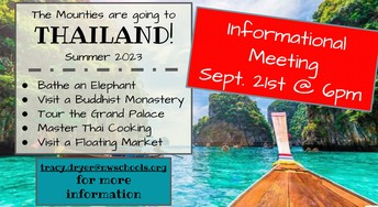 The Mounties are going to THAILAND!!!!