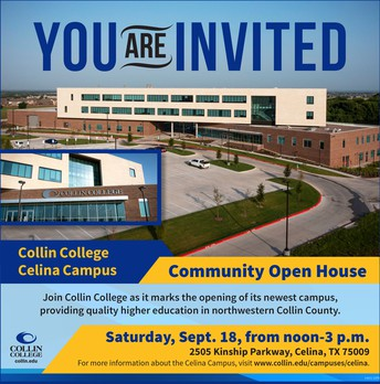 Collin College Celina Campus Open House - NEW