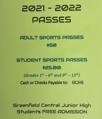 ALL Season Sports Pass = GCJHS
