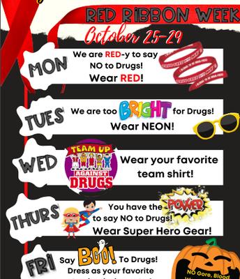 Red Ribbon Week October 25-29