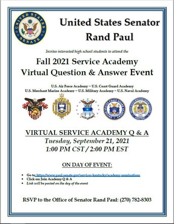 Fall 2021 Service Academy Virtual Question & Answer Event