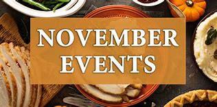Looking Ahead -November  Events