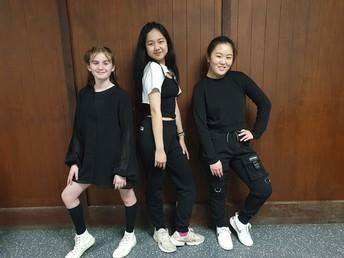 Dada Chantaraviroj, Bronte Mackereth and Somi Park performed a Hip hop dance