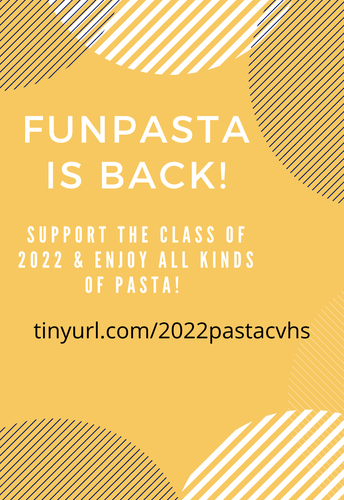 Class of 2022 Pasta Fundraiser