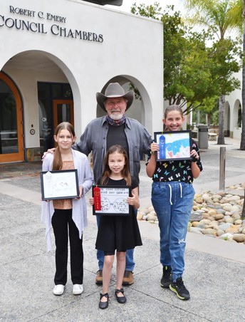 Three PUSD Fourth Graders win Poway Water Poster Contest