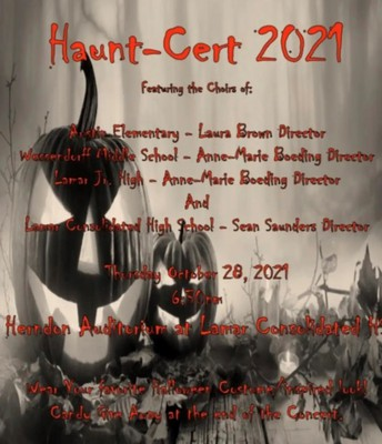 Haunt-Cert Choir Concert Thursday October 28th 6:30 pm