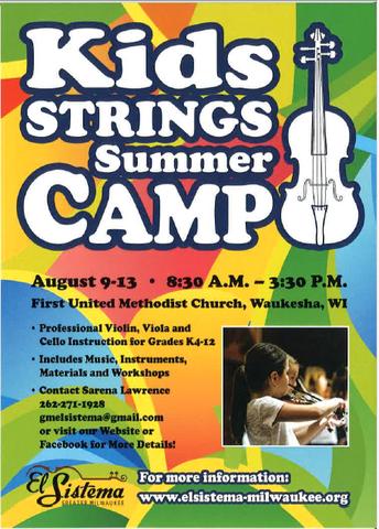 Greater Milwaukee El Sistema Summer Camp