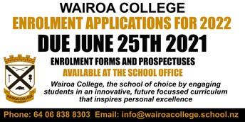 Wairoa College Enrolment Presentation