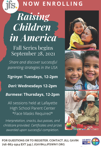 Fall 2021 Raising Children in America parent support group series