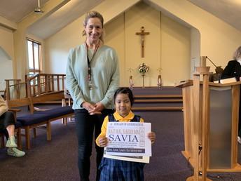 Welcome Savia to school