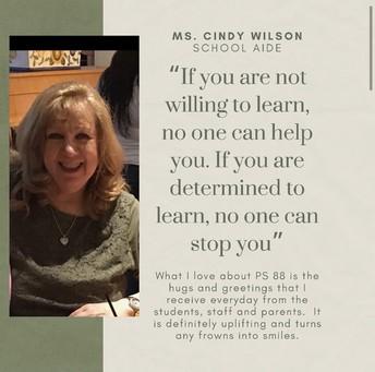 Ms. Cindy Wilson