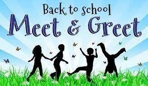 Back-to-School Meet and Greet-Monday, August 9 from 4:00-6:00
