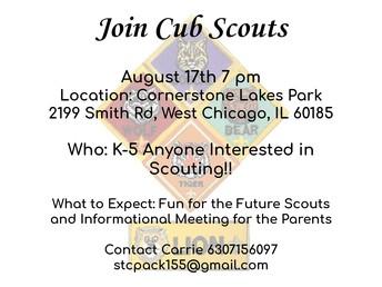 ¿Está interesado en unirse a los Cub Scouts?