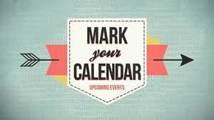 August calendar dates: