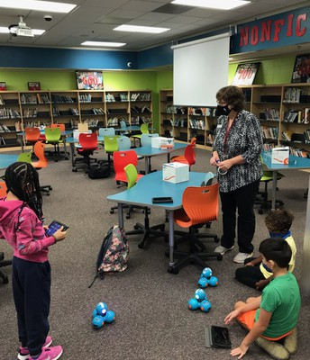 Robotics Club students programmed robots this week!