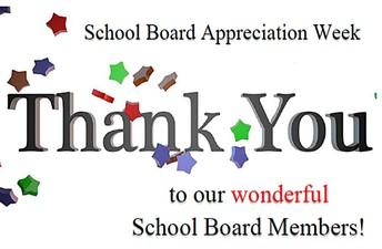 School Board Appreciation Week is October 18 - 21