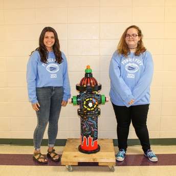 Art Club Students Paint Fire Hydrant for Fox Crossing Fire Department