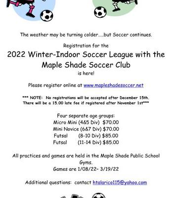 MSSC Indoor Soccer Registration