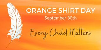 Orange Shirt Day - September 28