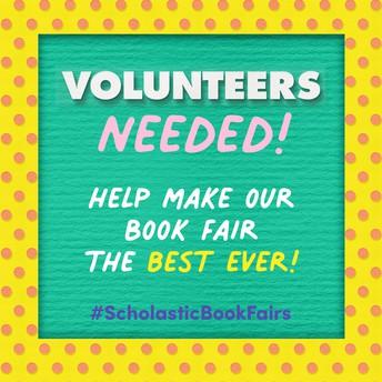Scholastic Book Fair starts 10/25 - volunteers needed
