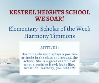 9/29 Elementary Scholar of the Week
