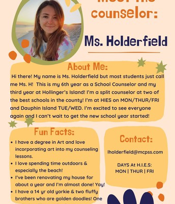 Ms. Holderfield, Counselor
