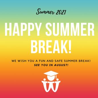 WBSD Summer Update - July 2021