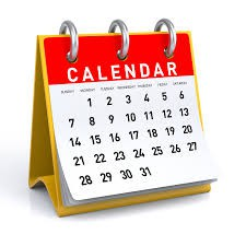 Mark your Calendars:  **(recent updates made - read carefully)