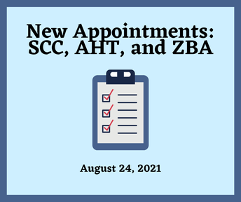 New Appointments SCC, AHT, and ZBA