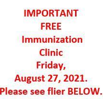 FREE IMMUNIZATION CLINIC