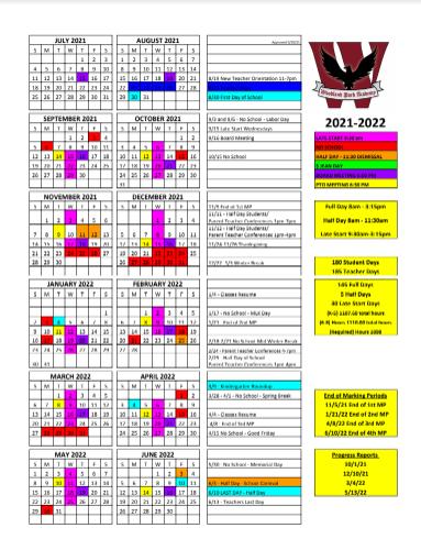 2021-2022 WPA Calendar
