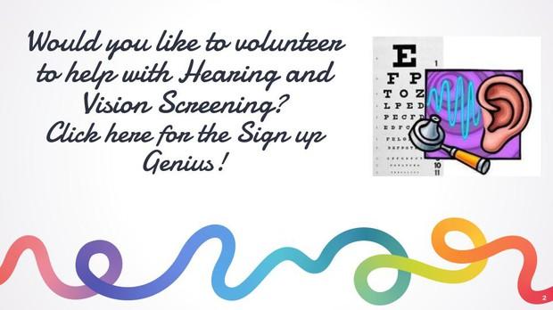 Hearing and Vision Screening Sign up