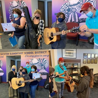 Students awarded guitars