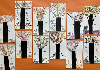 Fall Cubism Trees