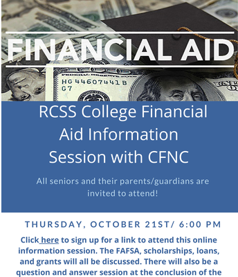 RCSS College Financial Aid Info Session with CFNC