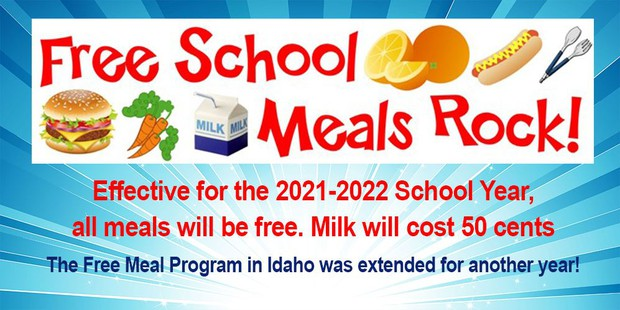 Says Free School Lunch to all students.