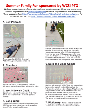 Chalk and Activity Sheet