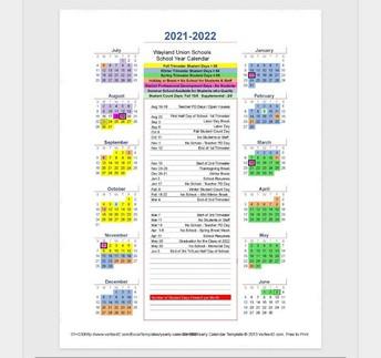 2021/2022 School Calendar