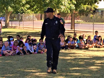 Captain Zarate Teaches Students About Courage