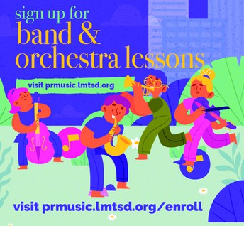 MUSIC LESSONS ENROLLMENT NOW OPEN FOR 2021-22SY!