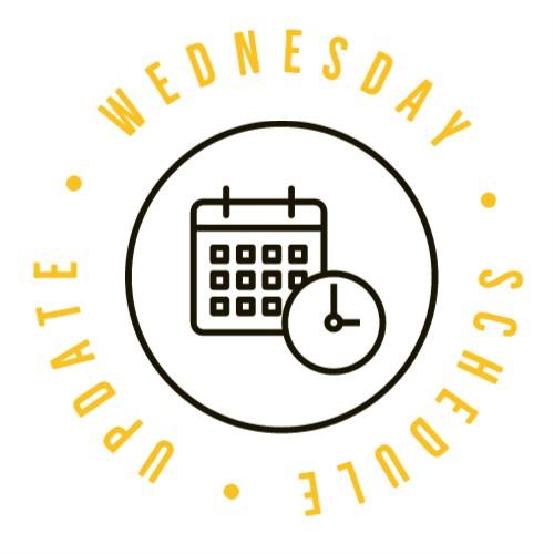 Wednesday schedule change graphic